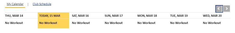 no workout